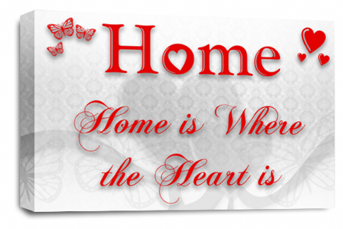 Home Quote Wall Art Picture White Red Love Print